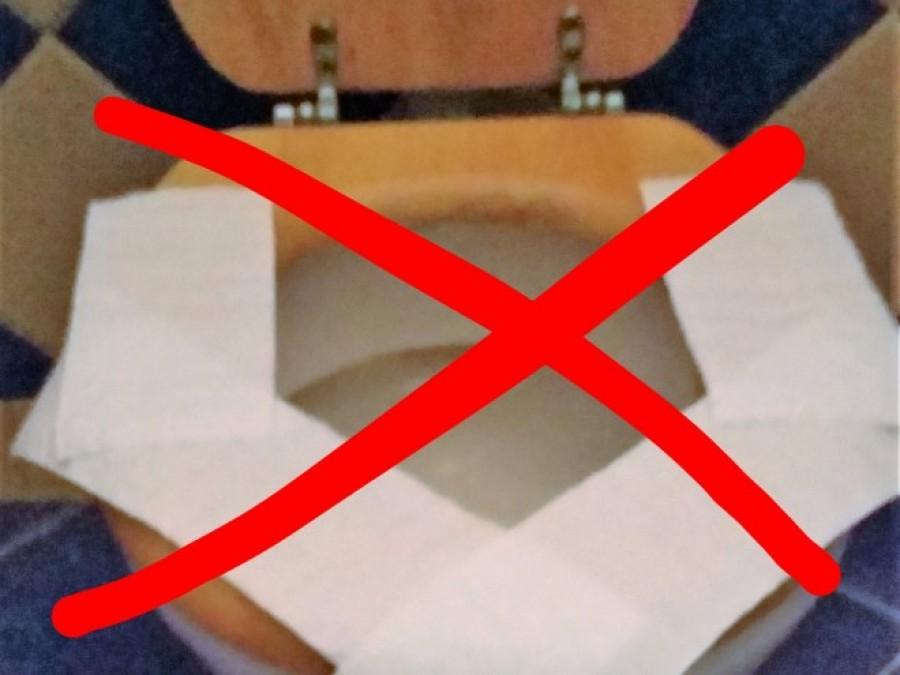 Ne tegyél többet WC-papírt az ülőkére a nyilvános illemhelyeken!